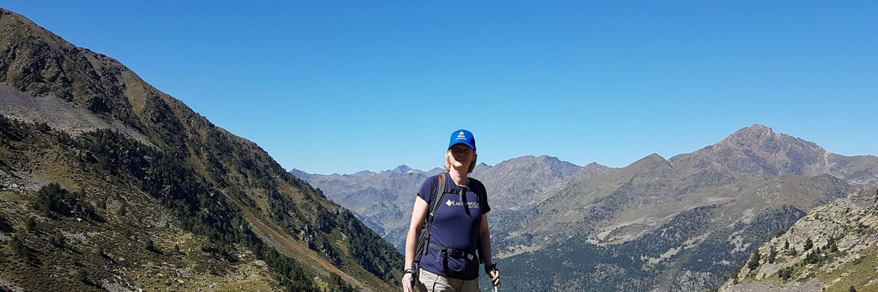 Donna Herum in the Pyrenees Mountains.