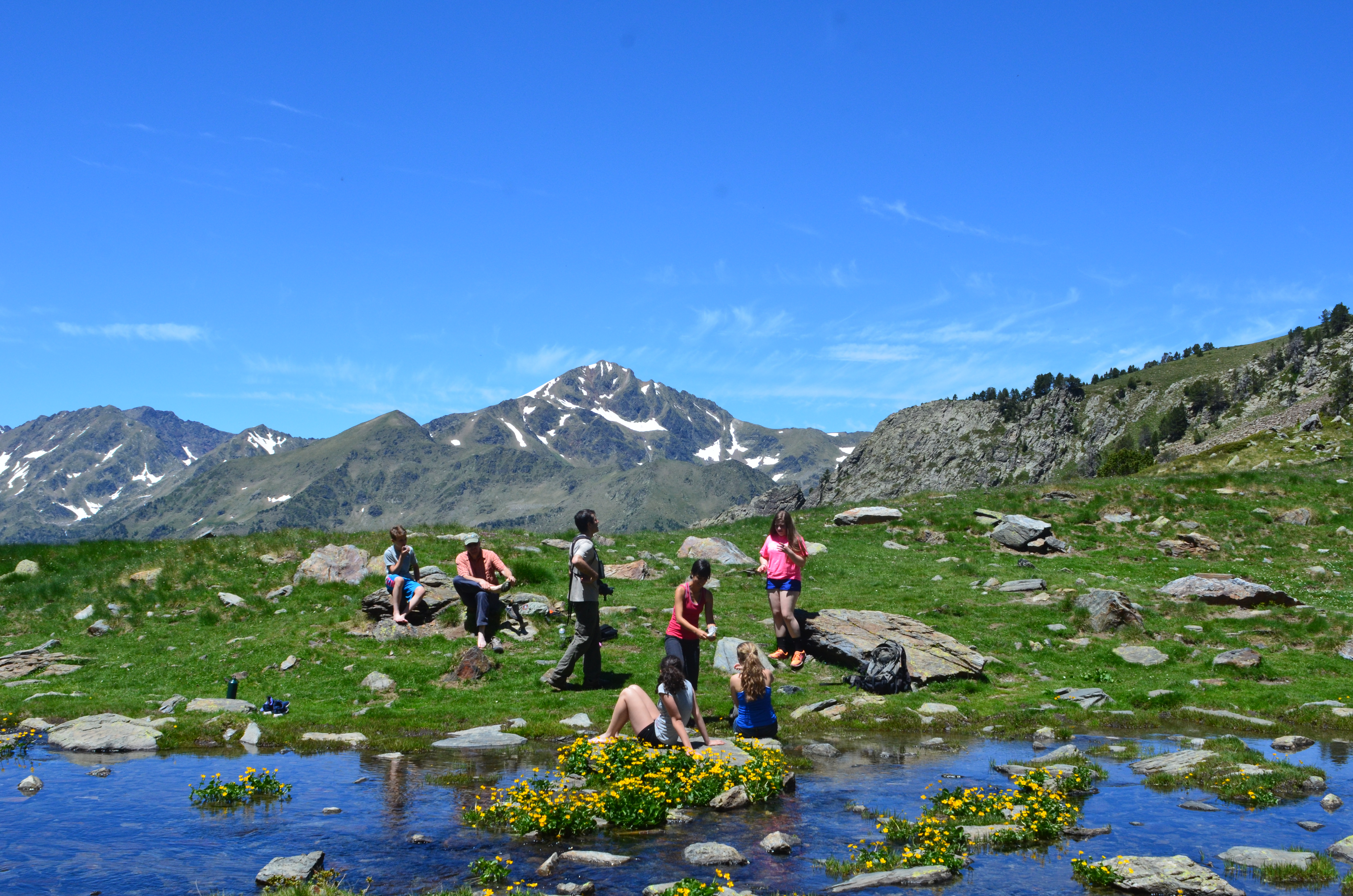 Earthwatch teen volunteers on the expedition Wildlife in the Changing Andorran Pyrenees.