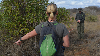 Earthwatch volunteers conduct biodiversity surveys (C) Lynn Von Hagen