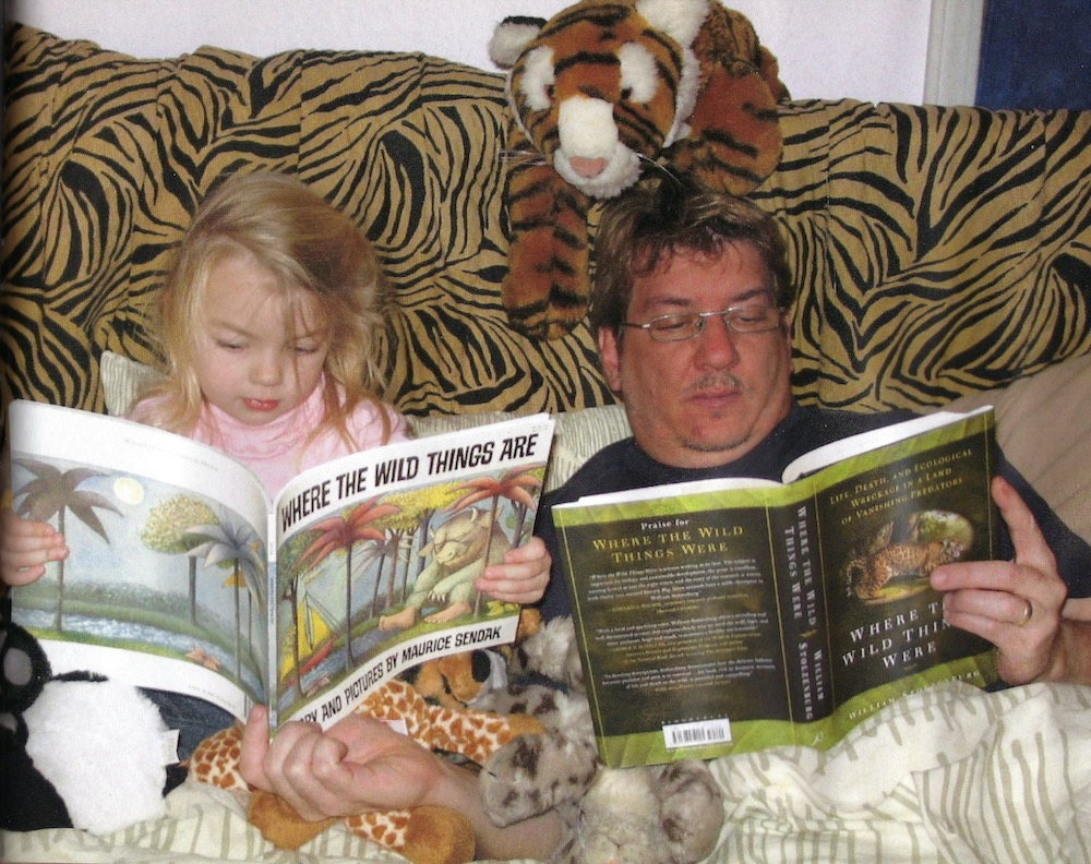 Stan Rullman and daughter reading Where the Wild Things Were and Where the Wild Things Are