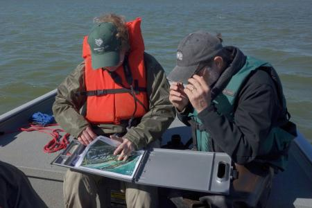 Earthwatch volunteers collect data