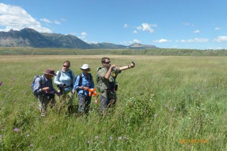 earthwatch volunteers in the field