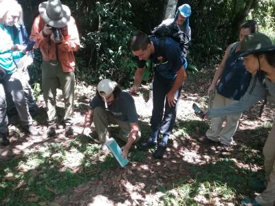 Earthwatch volunteers conduct small mammal surveys