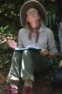 An Earthwatch volunteer helps survey the Atlantic Forest