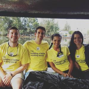 EY-Earthwatch Ambassadors on the expedition Conserving Wetlands and Traditional Agriculture in Mexico.