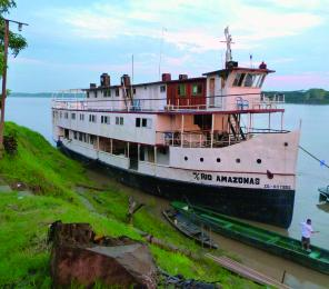 Aboard a riverboat deep in the heart of Peru's flooded Amazon region, you'll help to conserve river dolphins and monkeys, and protect the fragile South American wilderness.