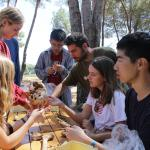 volunteers analyze ancient artifacts in tuscany